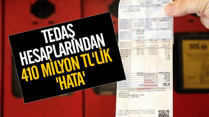 TEDAŞ hesaplarından 410 milyon TL'lik 'Hata'