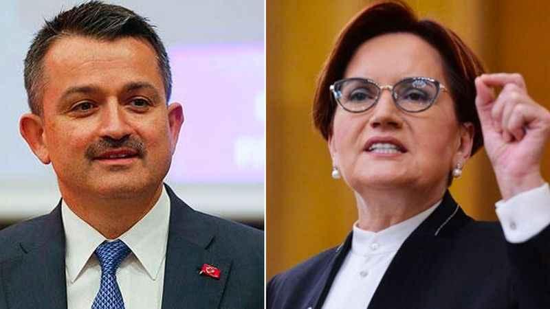 Meral Akşener'den Tarım Bakanı Bekir Pakdemirli'ye istifa çağrısı