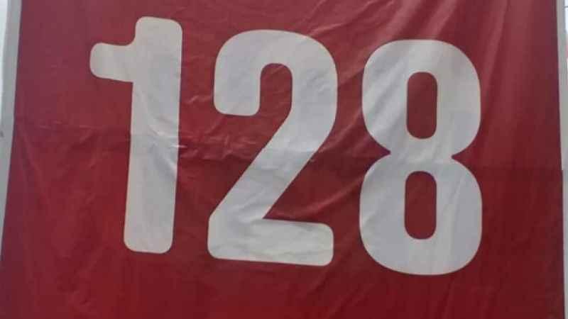 CHP'nin sadece '128' yazan pankartlar indirildi