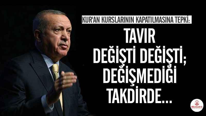 Cumhurbaşkanı Erdoğan'dan KKTC'ye Kur'an kursu kararı tepkisi - Son dakika haberler