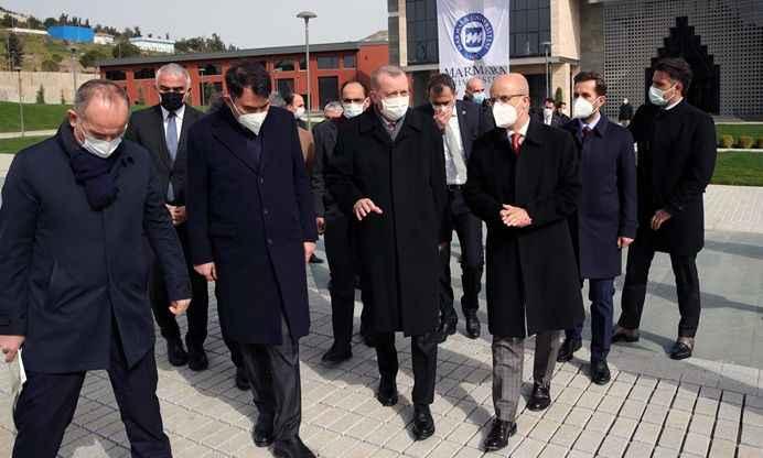 Erdoğan, adını taşıdığı üniversite külliyesi inşaatını inceledi