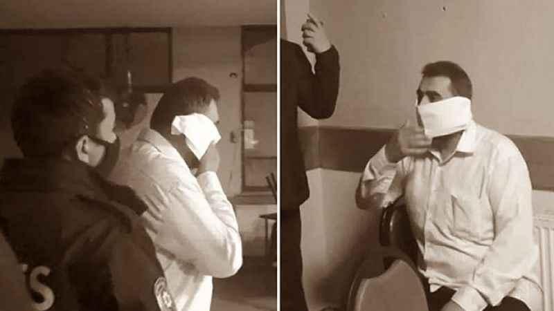 Denetimlerde tuvalete saklanan adam, tuvalet kağıdından maske yaptı