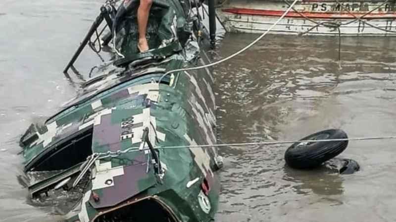 Peru'da askeri helikopter nehre düştü: 5 ölü