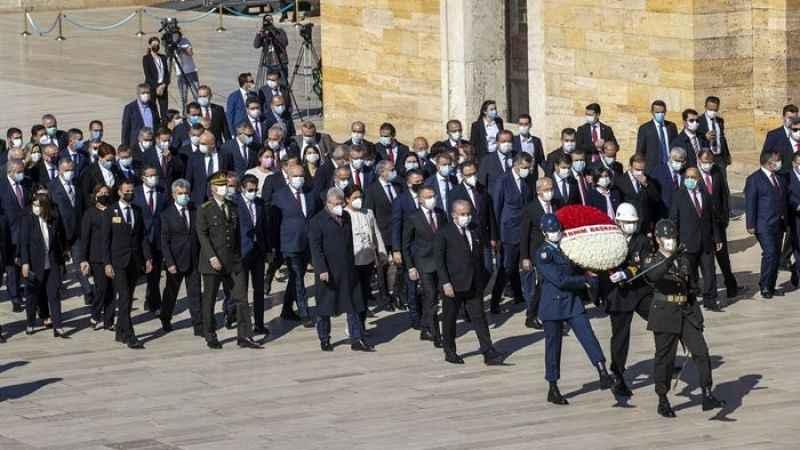 Mustafa Şentop başkanlığındaki devlet erkanı Anıtkabir'i ziyaret etti