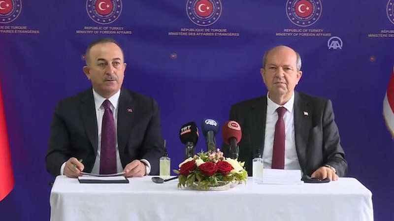 Son Dakika! Çavuşoğlu ve Tatar'dan Kıbrıs zirvesi açıklaması