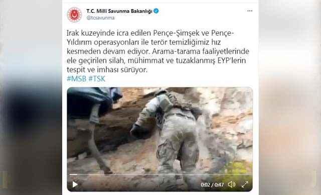 MSB'den flaş 'Pençe' operasyonları açıklaması