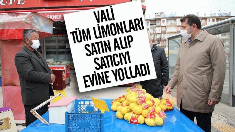 Vali tüm limonları satın alıp satıcıyı evine yolladı