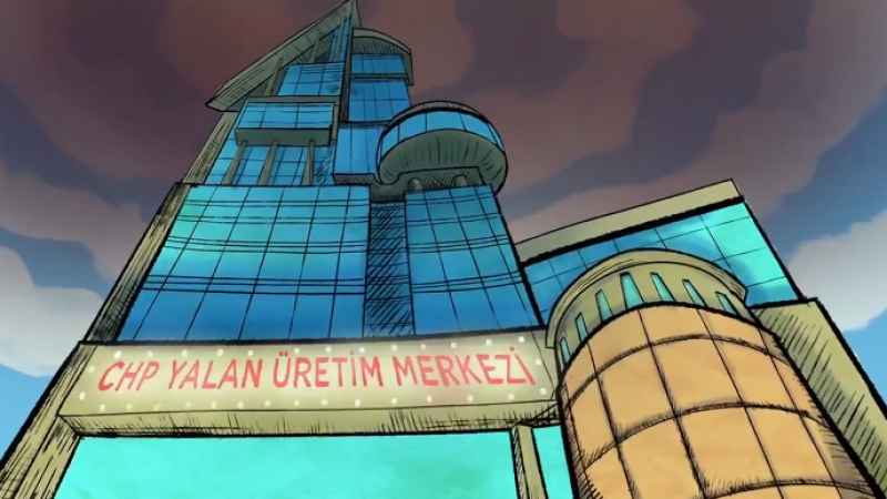 AK Parti'den, CHP'ye yönelik Yalan Üretim Merkezi başlıklı animasyon