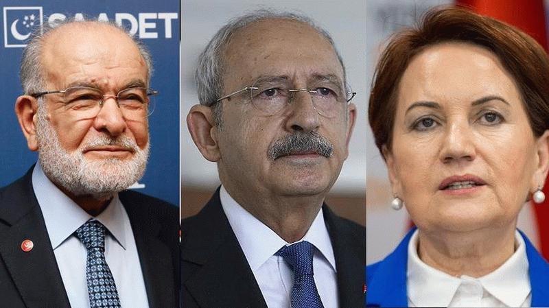 Kılıçdaroğlu, Akşener'e, Akşener ise Temel Karamollaoğlu'na sordu