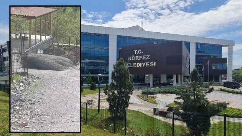 Sökülen stadyum teli AKP'li Meclis üyesini istifa ettirdi