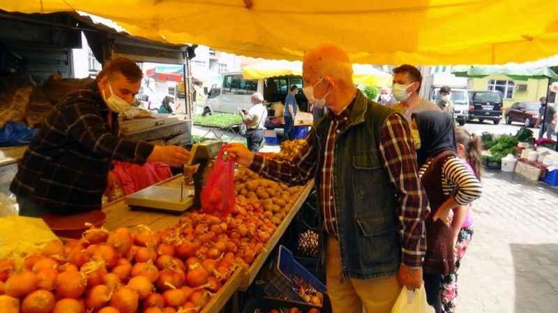 Doğu Karadeniz'in en fazla vaka görülen ilinde semt pazarı kuruldu
