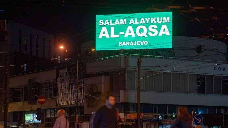 Bosna Hersek'ten Filistinlilere mesaj! 'Selamün Aleyküm Mescid-i Aksa'