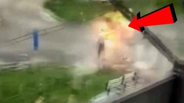 Polise bombayla korkutmaya çalıştı, elinde patladı