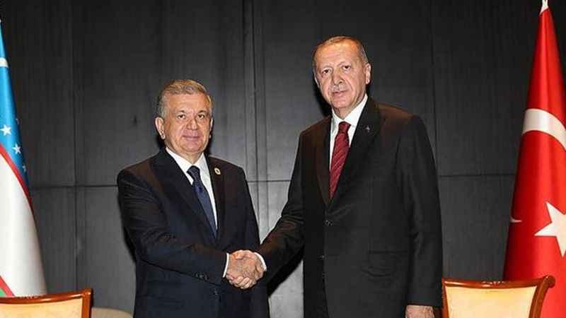 Erdoğan, Mirziyoyev ile telefonda görüştü
