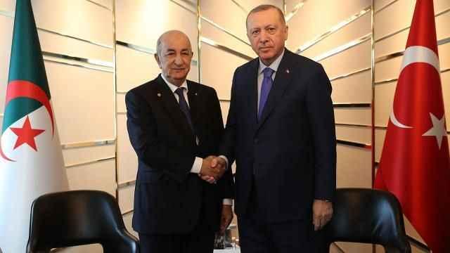 Cumhurbaşkanı Erdoğan, Cezayirli mevkidaşı ile Filistin'i görüştü