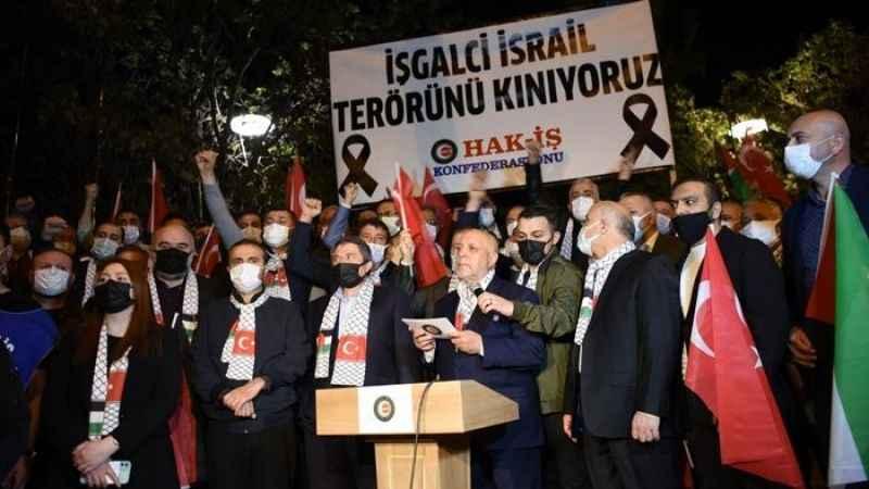 HAK-İŞ siyonist terörü lanetledi: Öfkemizi asla kaybetmeyeceğiz