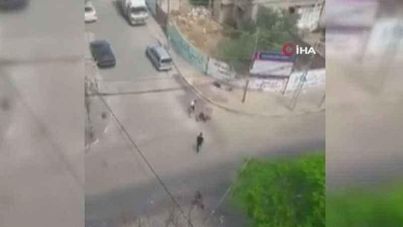 İşgalci İsrail, yaralılara yardım eden sivilleri vurdu