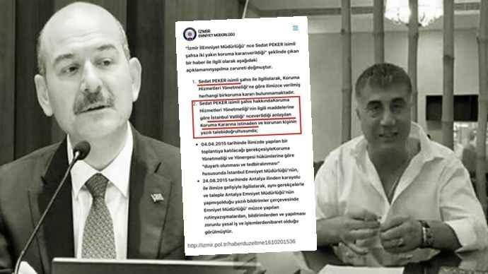 Sedat Peker'e koruma polisi tahsis edildiğinin yazısı ortaya çıktı