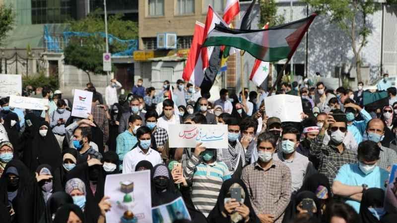 Tahran'da Filistin'e destek gösterisi düzenlendi!