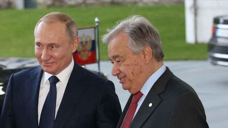 Vladimir Putin ile Antonio Guterres, Filistin'i görüştü