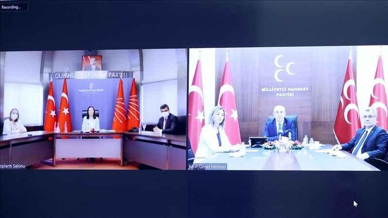 MHP heyeti CHP heyetiyle bayramlaştı