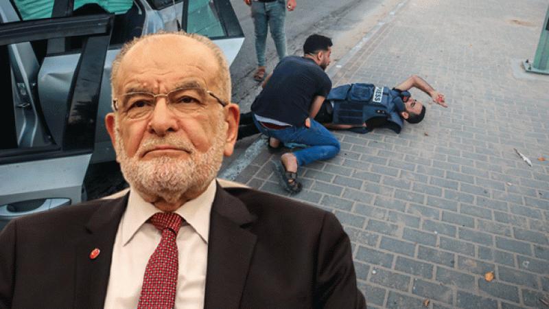 Temel Karamollaoğlu'ndan İsrail teröründe yaralanan gazetecilere mesaj