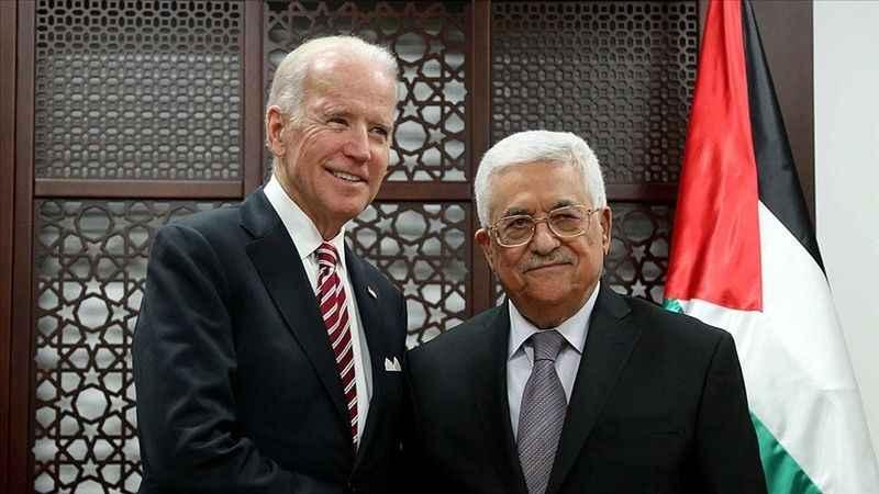 Biden, Mahmud Abbas ile görüştü! Siyonist İsrail'i kınayamadı