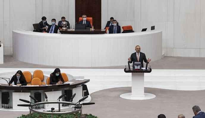 TBMM'de Filistin oturumu yapıldı; Çavuşoğlu Meclis'i bilgilendirdi