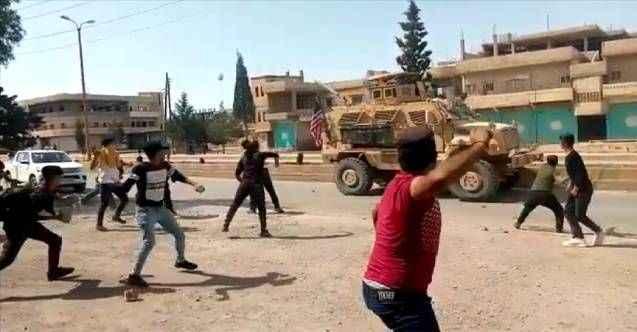 YPG/PKK'lılar ABD ordusunun araçlarına saldırdı
