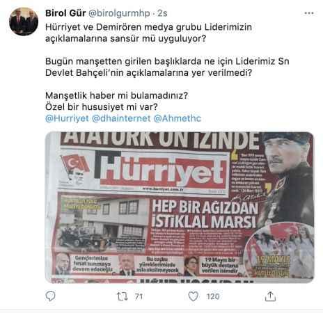 MHP'den flaş çıkış! Hürriyet ve Demirören Bahçeli'ye ambargo mu koydu?
