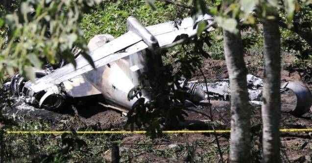 Belarus'ta askeri uçak düştü