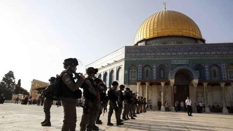 Mescid-i Aksa'da zafer kutlaması! Siyonist İsrail yine saldırdı