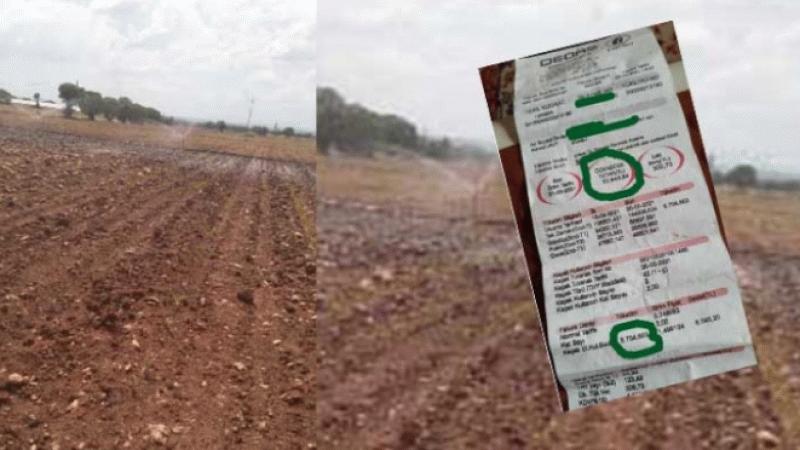 300 liralık faturayı ödeyemeyen çiftçiye 5 bin 700 lira ceza!