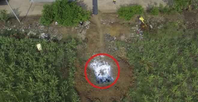 Cinayetle suçlanan polisin bahçesinden mezarlık çıktı