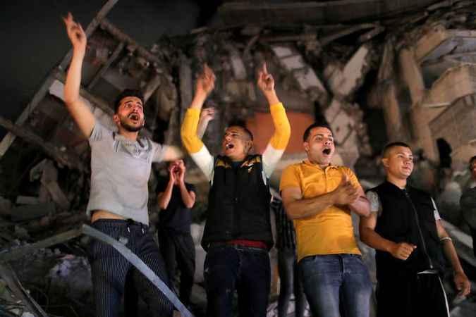 Hamas Siyonist İsrail'i dize getirdi! Gazze'de zafer kutlaması