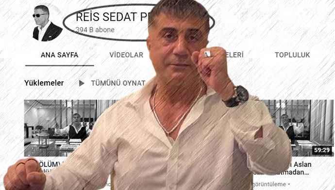 Youtube'dan Sedat Peker'in kanalıyla ilgili karar