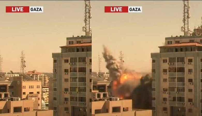 İsrail'in yıktığı 13 katlı binanın sahibi suç duyurusunda bulundu