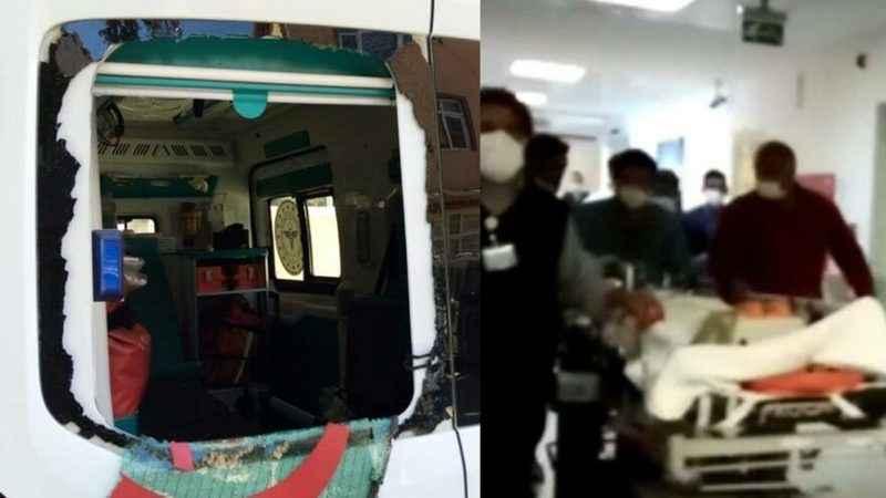 112 ekiplerine saldırı: Yaralı yakınları ambulansı taşladı