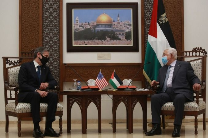 ABD Dışişleri Bakanı Blinken Mahmut Abbas ile görüştü