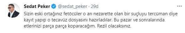 Sedat Peker yine tehdit etti! ''Rezil olacaksınız''