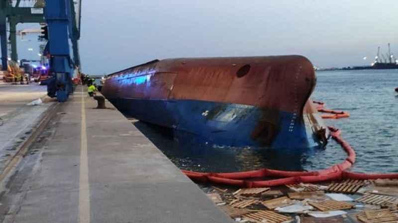 İspanya'da gemi alabora oldu! Kayıp 5 Türk denizci aranıyor