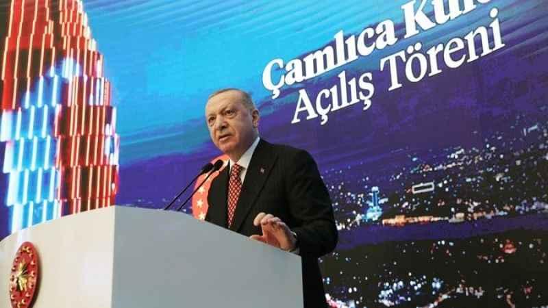 Erdoğan, Çamlıca Kulesi açılışında Kanal İstanbul için tarih verdi