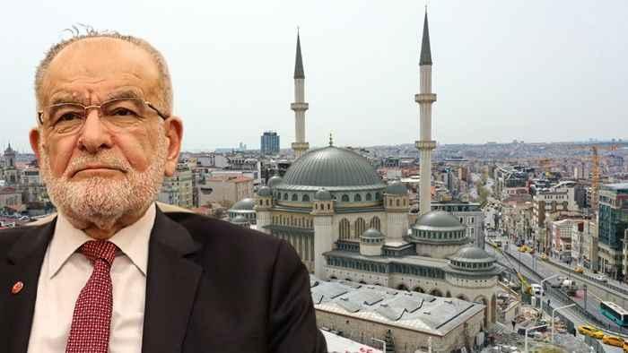 Karamollaoğlu'ndan Taksim Camii mesajı