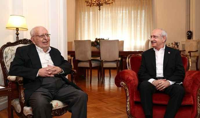 Kemal Kılıçdaroğlu, Hüsamettin Cindoruk'u evinde ziyaret etti