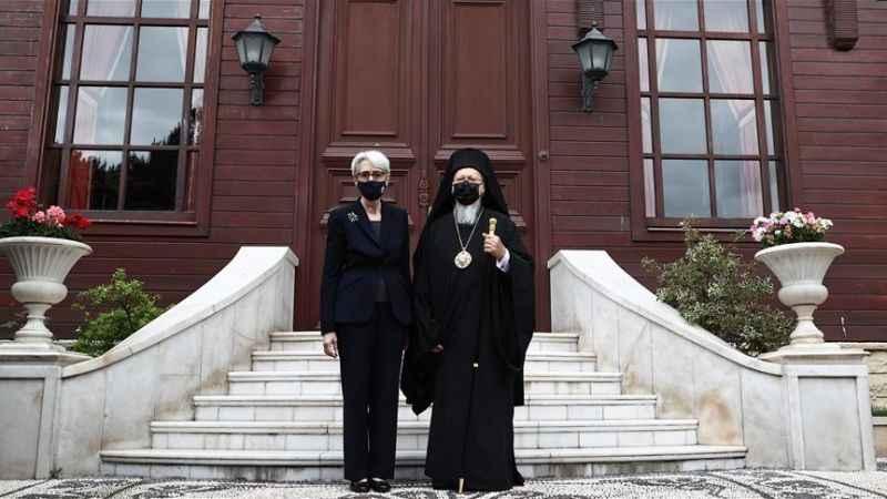 ABD Bakan Yardımcısı Wendy'in İstanbul'da ilk durağı Patrikhane oldu