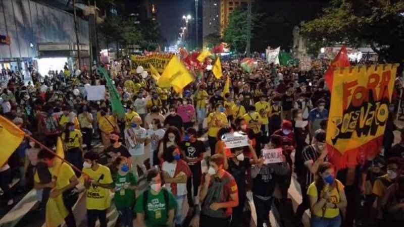 Brezilya'da 200 şehirde korona protestosu!