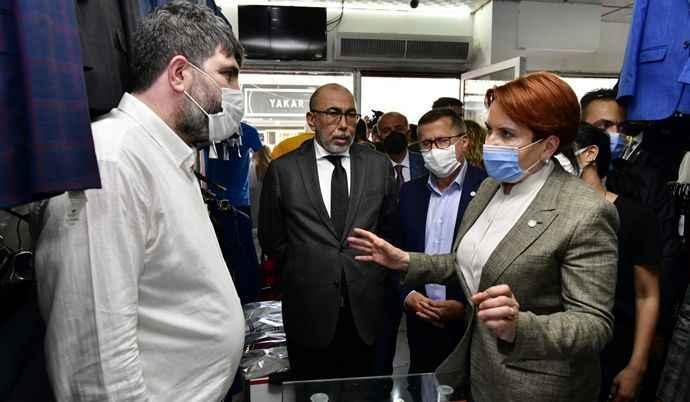 İYİ Parti Genel Başkanı Meral Akşener, Hatay'da esnafı ziyaret etti