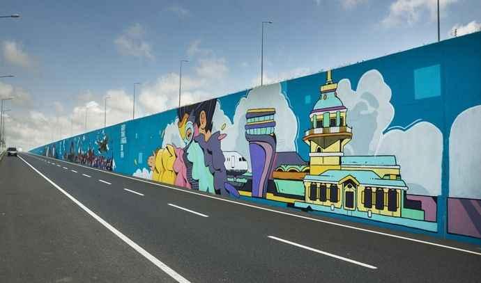 Türkiye'nin en büyük grafiti çalışması İstanbul Havalimanı'nda yapıldı