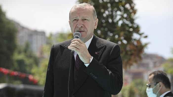 Cumhurbaşkanı Erdoğan cami açılışında seçim konuşması yaptı