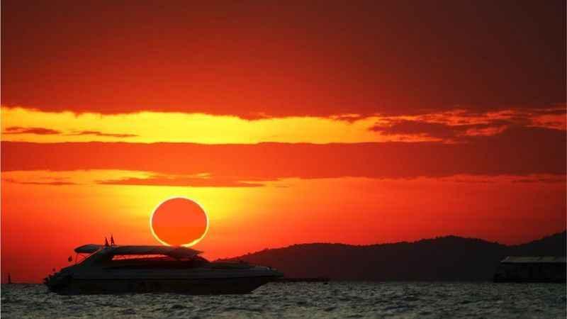 Ateş Çemberi: Güneş tutulması gerçekleşiyor!